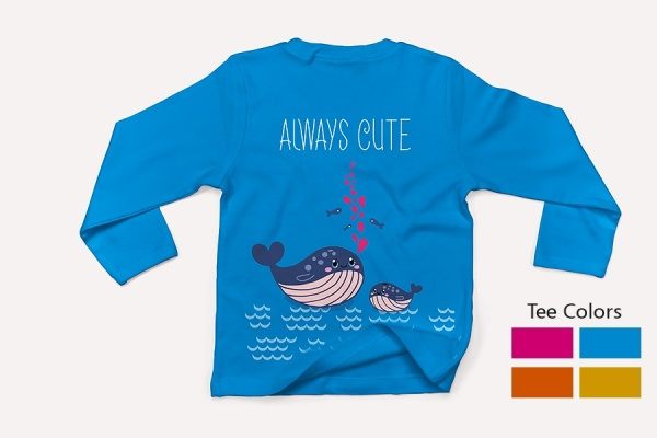 A Cute Whale design for Kids
